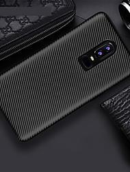 billiga -fodral Till OnePlus OnePlus 6 / OnePlus 5T Ultratunt Skal Enfärgad Mjukt TPU för OnePlus 6 / One Plus 5 / OnePlus 5T