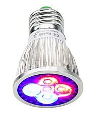 cheap -1pc 5W 500lm E26 / E27 Growing Light Bulb 5 LED Beads Integrate LED Decorative Blue / Red