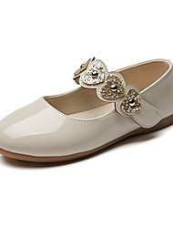 cheap -Girls' Shoes Leatherette Spring & Fall Comfort / Flower Girl Shoes Flats Hook & Loop for Kids Black / Beige / Pink