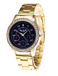 baratos -Homens Relógio Elegante Quartzo Dourada 30 m Cronógrafo Analógico Luxo Fashion - Dourado Um ano Ciclo de Vida da Bateria / Aço Inoxidável / SSUO LR626