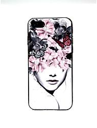 baratos -Capinha Para Apple iPhone X / iPhone 7 Ultra-Fina / Estampada / Adorável Capa traseira Cenário Macia TPU para iPhone X / iPhone 8 Plus /