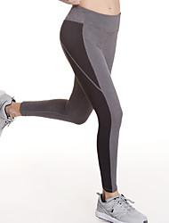 baratos -Mulheres Leggings de Corrida - Cinzento Esportes Meia-calça / Leggings Roupas Esportivas Secagem Rápida, Respirabilidade, Suavidade Com