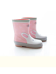 cheap -Girls' Shoes Latex Spring Rain Boots Boots for Gray / Pink / Light Blue / Mid-Calf Boots