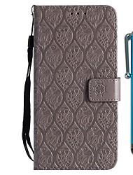 baratos -Capinha Para Huawei Honor 9 Lite / Honor 7X Carteira / Porta-Cartão / Com Suporte Capa Proteção Completa Flor Rígida PU Leather para Huawei Honor 9 Lite / Honor 7X