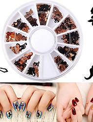 Недорогие -1 pcs Стразы для ногтей Художественный маникюр Маникюр педикюр На каждый день металлический / Украшения для ногтей