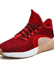 Недорогие -Муж. Тюль Лето Удобная обувь Спортивная обувь Беговая обувь Черный / Серый / Красный