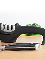 Недорогие -1шт Кухонные принадлежности Нержавеющая сталь + пластик Удобная ручка Устройство для заточки ножей Для приготовления пищи Посуда