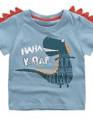 voordelige -Kinderen Jongens Effen Korte mouw T-shirt