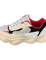 Недорогие -Муж. Тюль / Полиуретан Лето Удобная обувь Спортивная обувь Беговая обувь Красный / Белый / синий