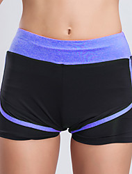 cheap -BARBOK Women's With Inner Shorts Running Shorts - Gray, Pink, Violet Sports Shorts Yoga, Fitness, Gym Activewear Quick Dry, Anatomic Design, Breathable Stretchy