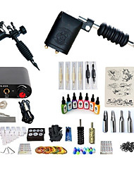 preiswerte -BaseKey Tätowiermaschine Beginner Set - 2 pcs Tattoo-Maschinen mit 7 x 15 ml Tätowierfarben, Professionell, Sets Aleación Mini Stromversorgung Case Not Included 20 W 2 x Drehtattoomaschine für