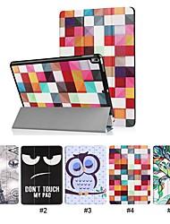 Недорогие -Кейс для Назначение Apple iPad Pro 10.5 со стендом / Ультратонкий Чехол Слова / выражения / Животное / Эйфелева башня Твердый Кожа PU