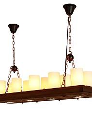 Недорогие -JLYLITE 10-Light Для кухонного острова Люстры и лампы Рассеянное освещение Окрашенные отделки Металл Стекло Мини 110-120Вольт / 220-240Вольт Лампочки не включены / Интегрированный светодиод / SAA
