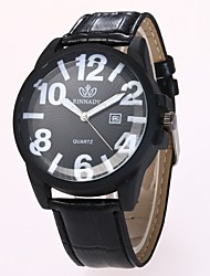 Недорогие -Муж. Нарядные часы Наручные часы Кварцевый Новый дизайн Повседневные часы PU Группа Аналоговый На каждый день Мода Черный / Коричневый - Черный Коричневый Один год Срок службы батареи