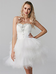 cheap -Princess Sweetheart Neckline Short / Mini Tulle Cocktail Party / Homecoming Dress with Beading / Tier by TS Couture®