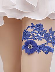 baratos -Renda Casamento Wedding Garter Com Laços Ligas Casamento / Festa