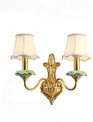 baratos -QINGMING® Estilo Mini Rústico / Campestre / Regional Luminárias de parede Sala de Estar / Quarto / Lojas / Cafés Metal Luz de parede
