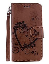 Недорогие -Кейс для Назначение SSamsung Galaxy S9 / S9 Plus Бумажник для карт / со стендом / Флип Чехол С сердцем Твердый Кожа PU для S9 Plus / S9