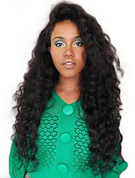 cheap -Unprocessed Human Hair Wig Mongolian Hair Wavy Side Part 250% Density With Baby Hair Unprocessed Natural Hairline Natural Short Long Mid