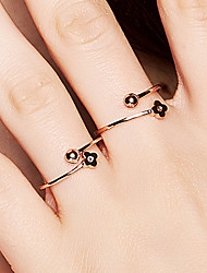 cheap -Women's Geometric Open Ring - S925 Sterling Silver Flower, Ball Dainty, Korean, Fashion 8 Rose Gold For Daily / Valentine