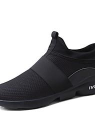 Недорогие -Муж. Сетка Лето Удобная обувь Кеды Для прогулок Черный / Серый / Красный