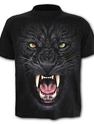 baratos -Homens Camiseta Exagerado Moda de Rua Estampado, Estampa Colorida Animal