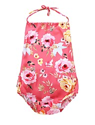 cheap -Baby Girls' Floral Sleeveless Bodysuit