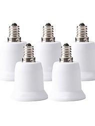 Недорогие -ZDM® 5 шт. E12 - E27 E12 / E26 / E27 Аксессуары для ламп / Конвертер Световой разъем Пластиковые & Металл