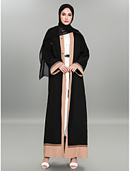 cheap -BENEVOGA Women's Sophisticated / Street chic Abaya - Color Block / Crewels, Embroidered / Jacquard