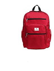 cheap -Unisex Bags Nylon School Bag Zipper Blue / Red / Blushing Pink