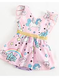 Недорогие -малыш Девочки С принтом / Радужный Короткие рукава Bodysuit