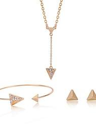 Недорогие -Жен. Синтетический алмаз Комплект ювелирных изделий - Винтаж, Мода Включают Золотой Назначение градация / Официальные / Серьги
