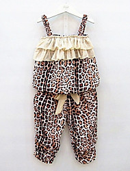 cheap -Kids Toddler Girls' Leopard Sleeveless Clothing Set