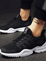 cheap -Men's Shoes Knit / Tulle Summer Comfort / Light Soles Athletic Shoes Running Shoes White / Black
