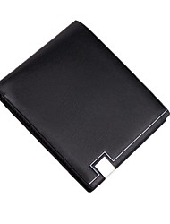 cheap -Men's Bags PU Leather Wallet Tiered Black / Coffee
