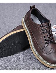 povoljno -Muškarci Cipele Sintetika, mikrofibra, PU Jesen Udobne cipele Oksfordice Crn / Sive boje / Braon