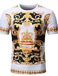 abordables -Tee-shirt Homme, Géométrique Basique