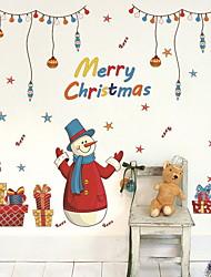 abordables -Ventana de película y pegatinas Decoración Navidad Vacaciones CLORURO DE POLIVINILO Adhesivo para Ventana
