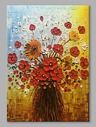 cheap -STYLEDECOR Modern Hand Painted Abstract A Bunch of Flowers Oil Painting on Canvas for Wall Art