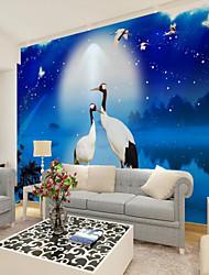 baratos -papel de parede / Mural Tela de pintura Revestimento de paredes - adesivo necessário Art Deco / Padrão / 3D