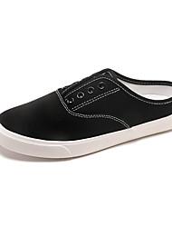 Недорогие -Жен. Обувь Ткань Весна лето Удобная обувь Мокасины и Свитер Для прогулок На плоской подошве Круглый носок Белый / Черный
