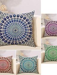 cheap -5 pcs Cotton / Linen Pillow Cover, Geometric Spots & Checks Artwork Geometric European