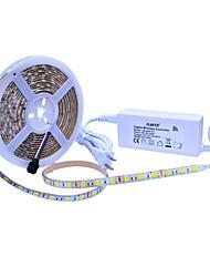 Недорогие -JIAWEN 5 метров Наборы ламп 300 светодиоды 1 адаптер x 12V 2A Тёплый белый / Холодный белый / Естественный белый Можно резать /