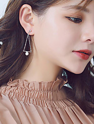 cheap -Women's Drop Earrings - Pearl, S925 Sterling Silver, Freshwater Pearl Classic, Fashion, Elegant Silver For Party / Gift
