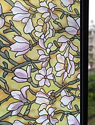 cheap -Window Film & Stickers Decoration Matte Floral PVC Window Sticker Matte