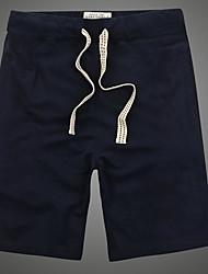 abordables -Hombre Deportivo Shorts Pantalones - Un Color