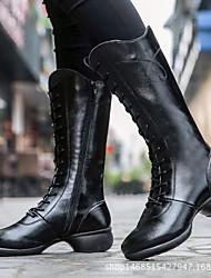 economico -Per donna Stivaletti da danza Pelle Tacchi Tacco cubano Personalizzabile Scarpe da ballo Bianco / Nero / Rosso / Da allenamento