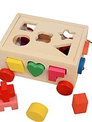 baratos -Quebra-Cabeças de Madeira / Brinquedos de Lógica & Quebra-Cabeças Fofo De madeira 16pcs Pré escola Dom
