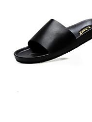 povoljno -Muškarci Cipele Mekana koža Ljeto Mokasine Papuče i japanke Crn