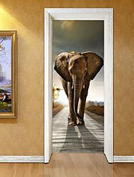 Недорогие -Декоративные наклейки на стены - 3D наклейки Животные / Геометрия Гостиная / Кабинет / Офис